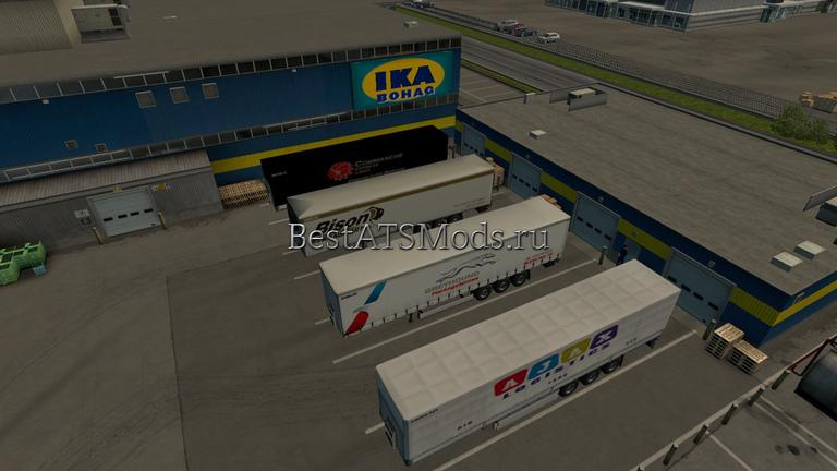Мод пак трейлеров Am & Euro Trailers Pack 01 1.20 Euro Truck Simulator 2