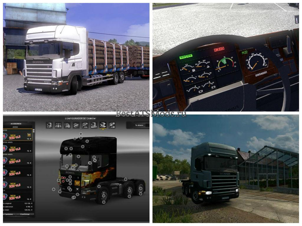 Мод грузовик Scania Series 4 edited by Solaris36 Euro Truck Simulator 2