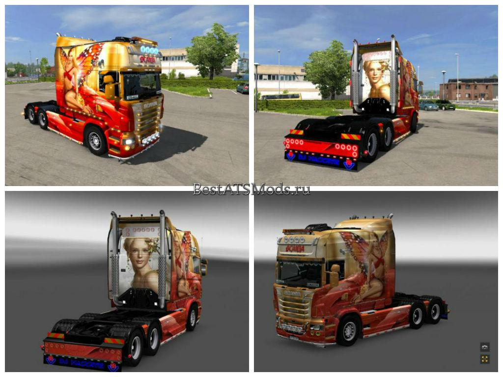 Мод Скин Fairy для Scania RS Euro Truck Simulator 2