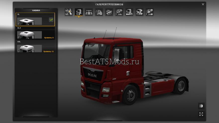 Мод грузовик MAN TGX and TGX Euro6 Reworked Euro Truck Simulator 2