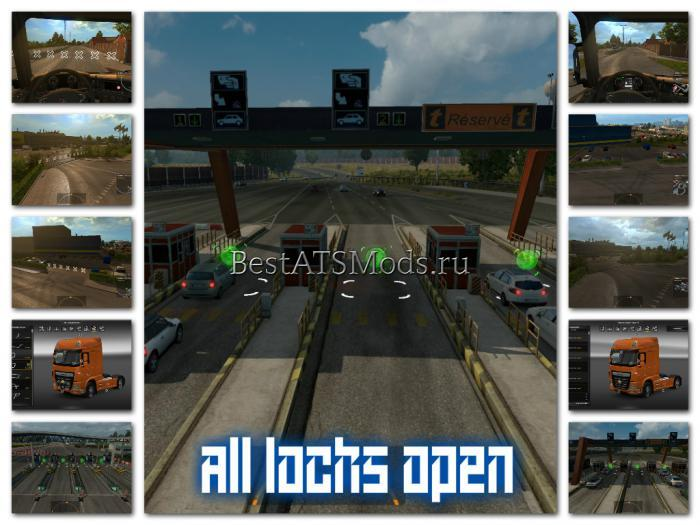 Мод Unlocked 3 in 1 v2.0 Euro Truck Simulator 2