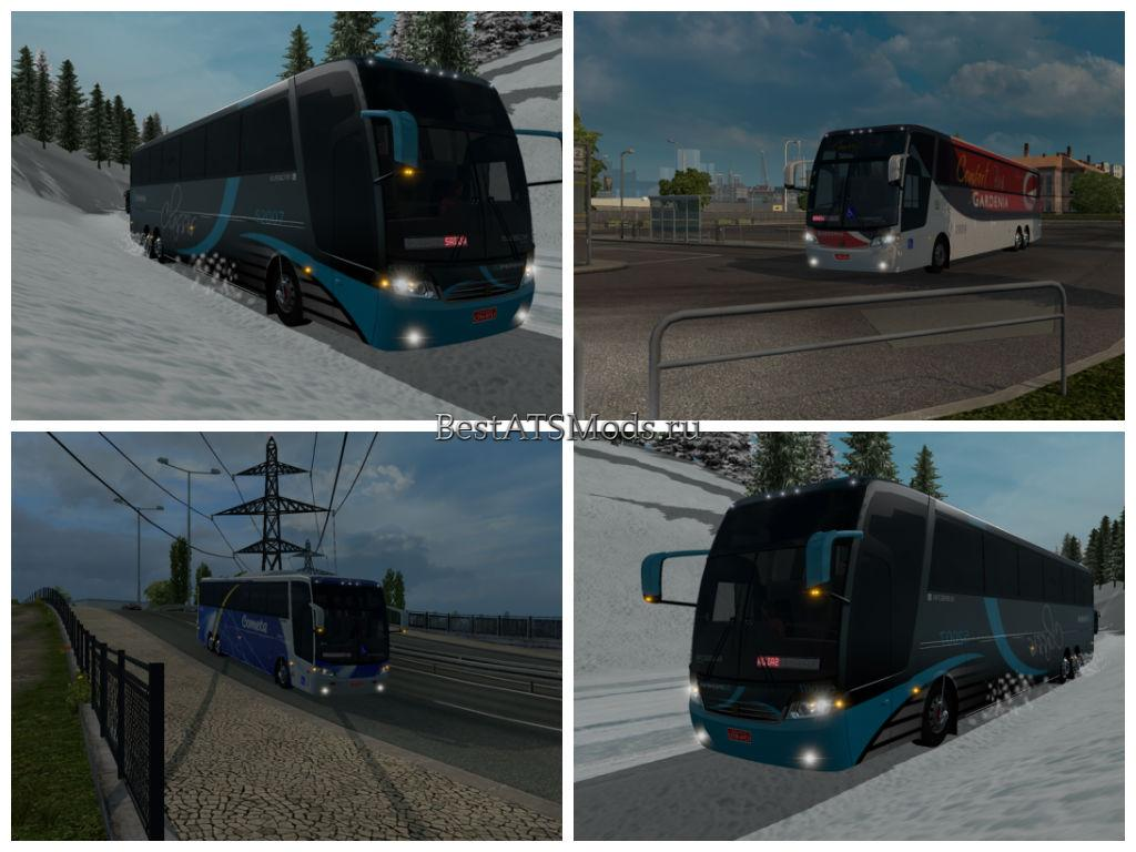 Мод автобус Jumbuss Bus 360 Euro Truck Simulator 2