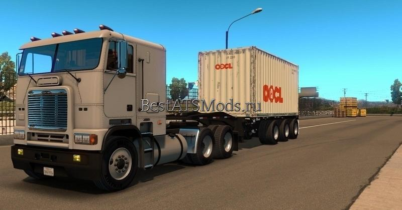 Мод прицеп Container 20ft 3 Axles American Truck Simulator
