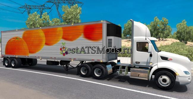 Мод прицеп Oranges reefer trailer mod AMERICAN TRUCK SIMULATOR