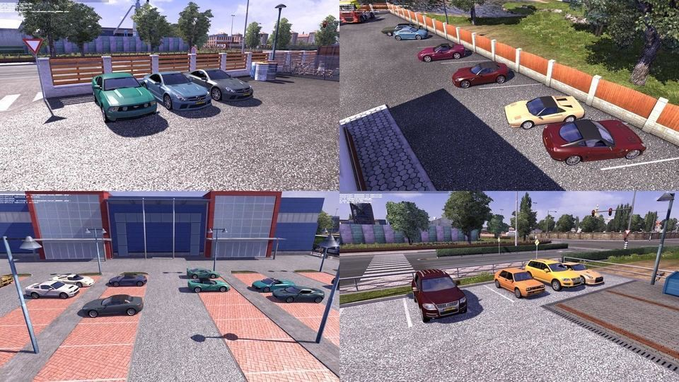 Мод трафик Cars from TDU2 in traffic v 1.20.x Euro Truck Simulator 2