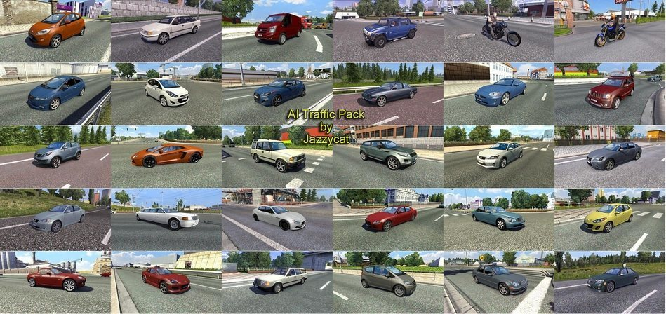 Мод Ai Traffic Pack v 3.0 Euro Truck Simulator 2