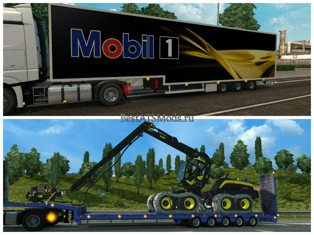 Мод ПАК прицепов Trailers Pack Mod by Satan19990 v3.8 Euro Truck Simulator 2