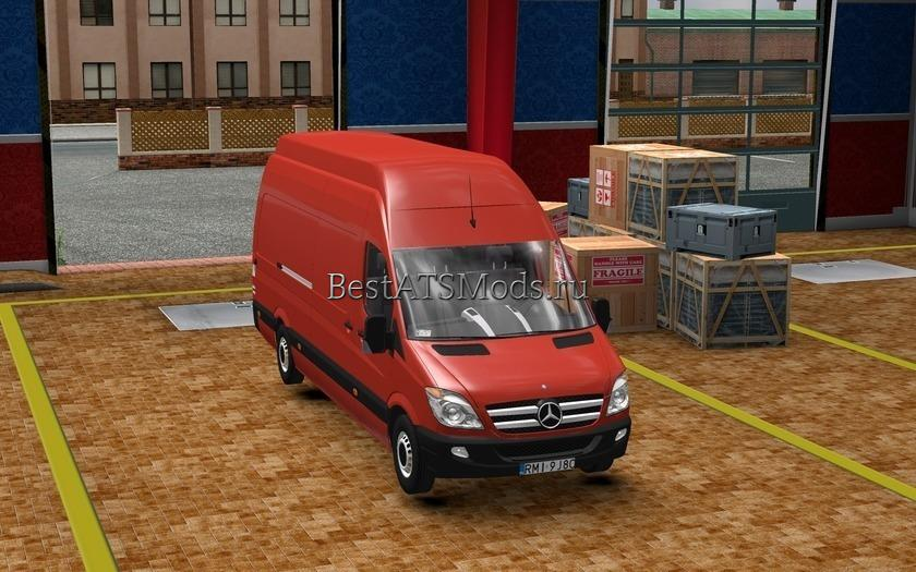 Мод грузовик Mercedes Benz Sprinter 315 CDI Improved Euro Truck Simulator 2