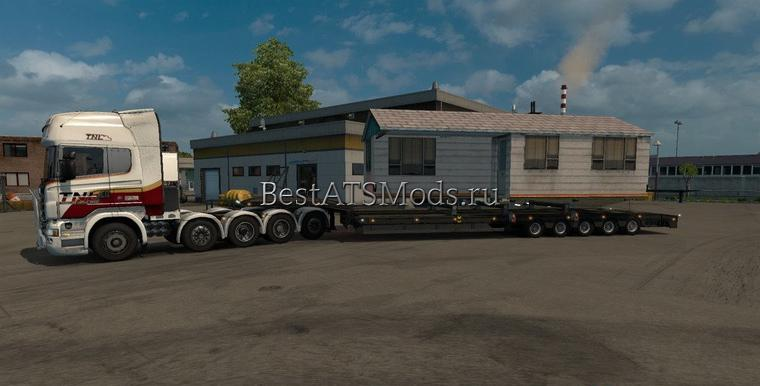 Мод грузовик Scania R 10x10 wheel drive Truck Simulator 2