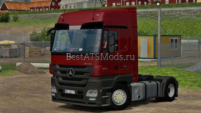 Мод грузовик Mercedes MP3 Actros 1844 Euro Truck Simulator 2
