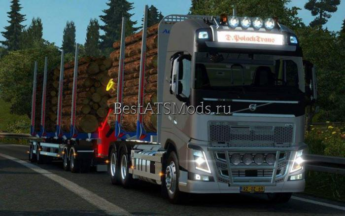Мод грузовик Volvo FH 2013 Timber 1.22 Euro Truck Simulator 2