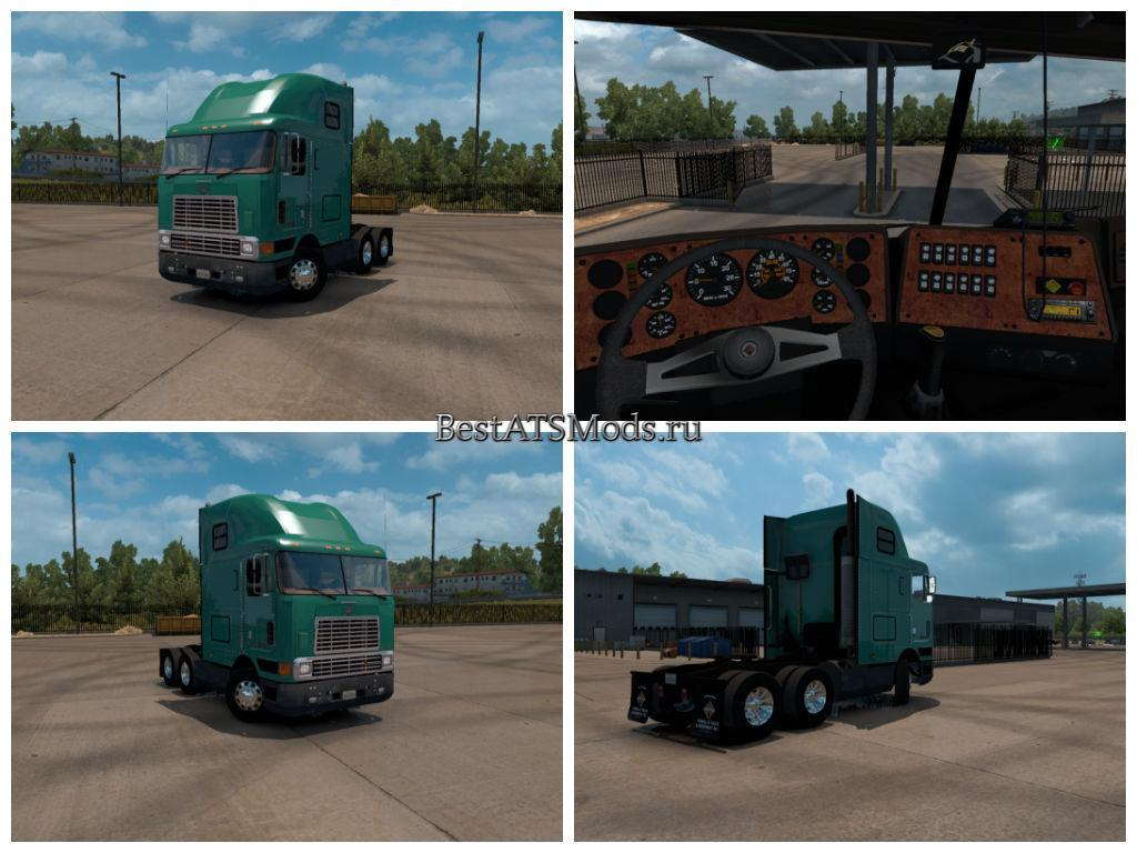Мод грузовик International 9800i Cabover BETA American Truck Simulator